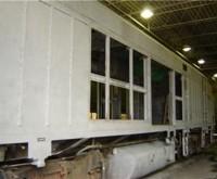 Amtrak Locomotive - After Abrasive blast to Remove Paint
