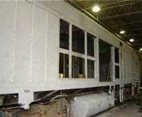 Amtrak Train Car - Beech Grove, IN - After Sandblasting - Interior and Exterior - Paint stripping, preparation, abrasive blast