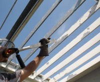 Dry Ice Blasting of Steel Supports