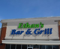 Ethan's Bar & Grill - Indiana - EIFS Repaired Stucco, sign hole repair