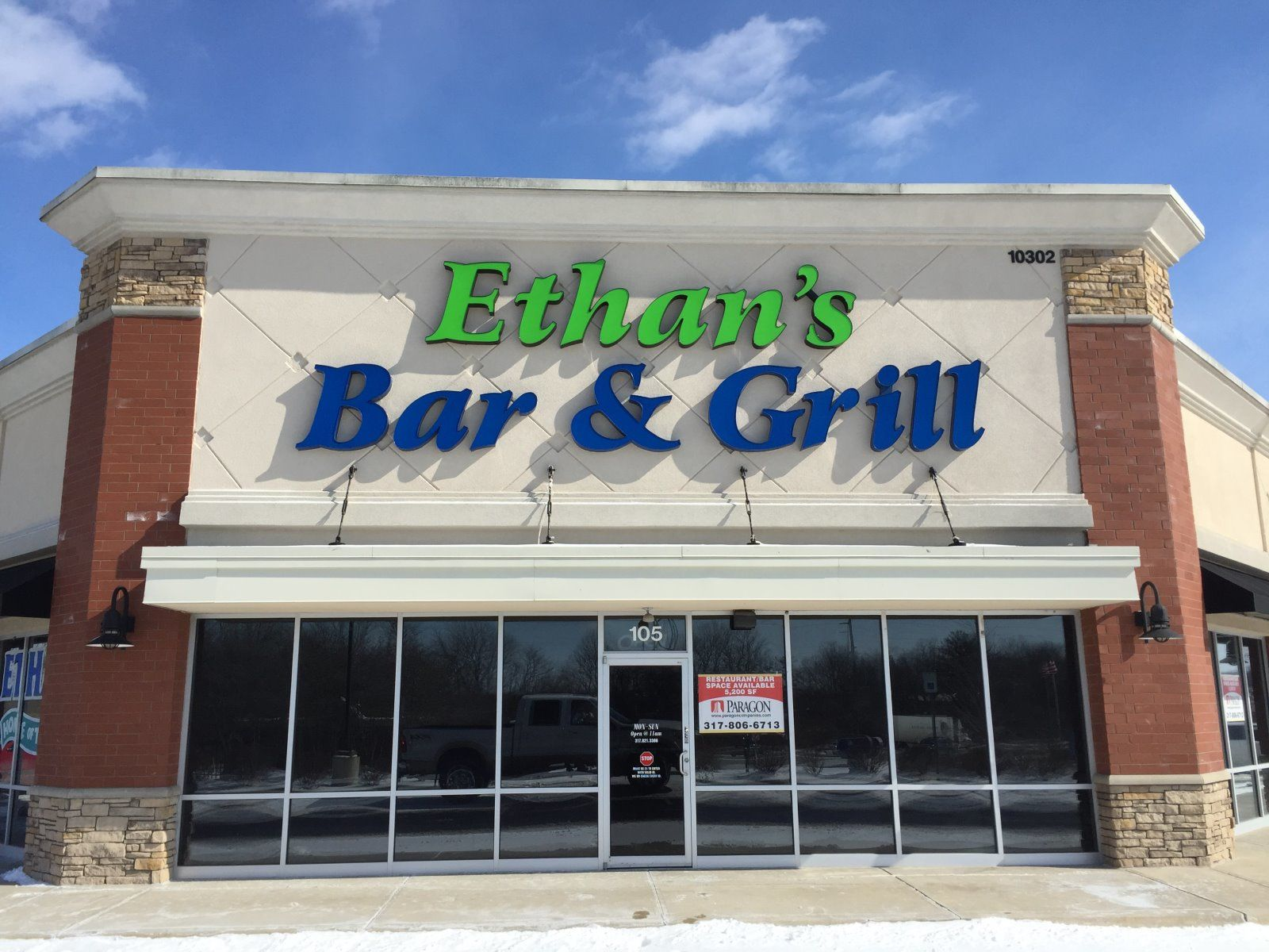 EIFS Repaired to Stucco indiana sign hole repair