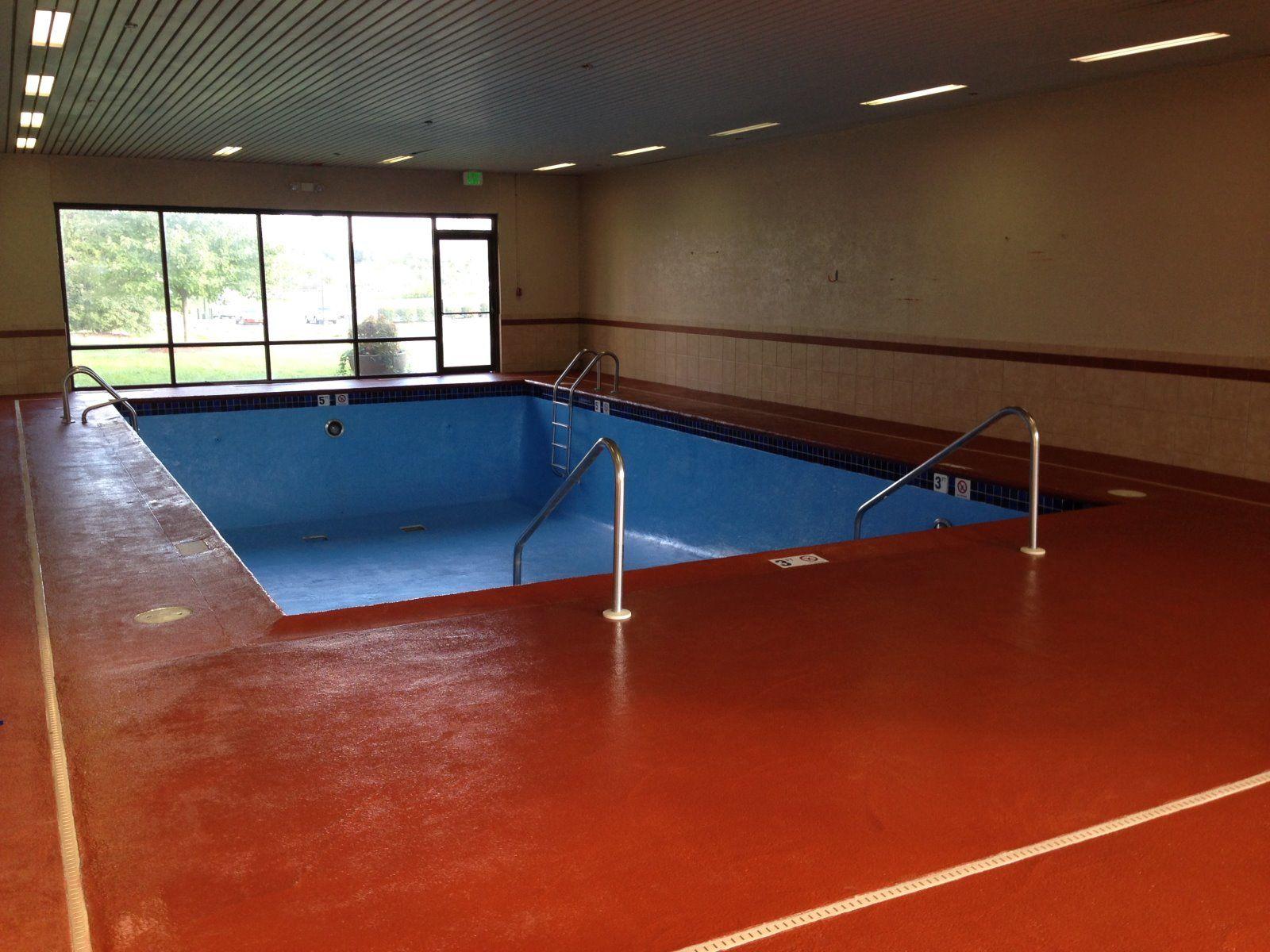 Hampton Inn Swimming Pool and Deck Sandblasted and Epoxy Painted