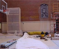Indiana Pacers - Practice Court Paint Removal from Walls
