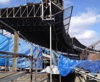 Indianapolis Motor Speedway - Grandstand Column Sandblast and 3 Coat Epoxy Paint