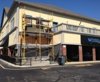 Scotty's - Indianapolis, IN - EIFS Major Repair from water intrusion leak, flood, moisture, wet wall, replace stucco