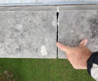Sealant Failure - limestone, cap, joint, failure, missing, water intrusion