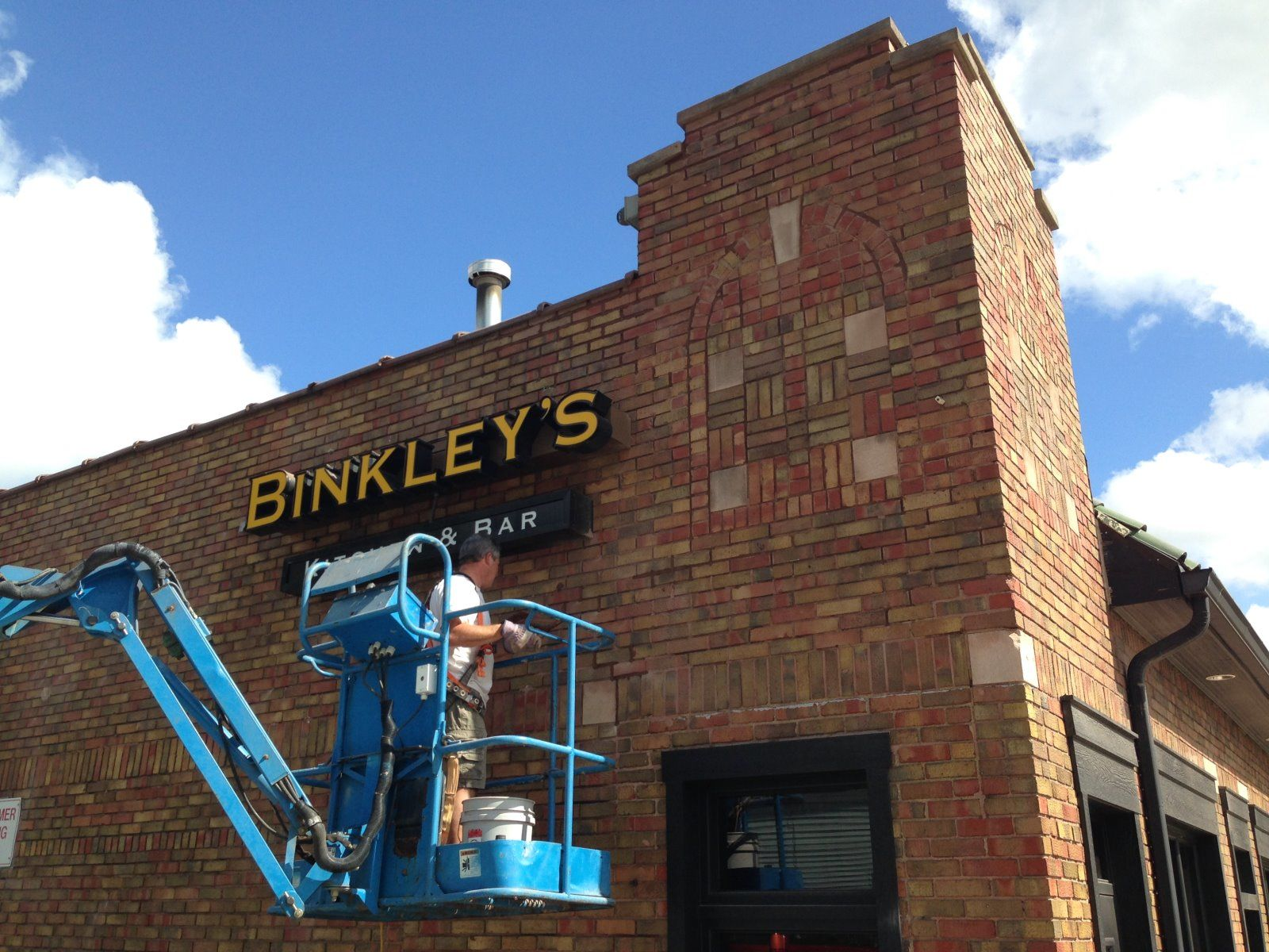 Binkley's Restaurant - Indianapolis, IN - Tuckpointing - masonry repair, mortar color match, brick replacement